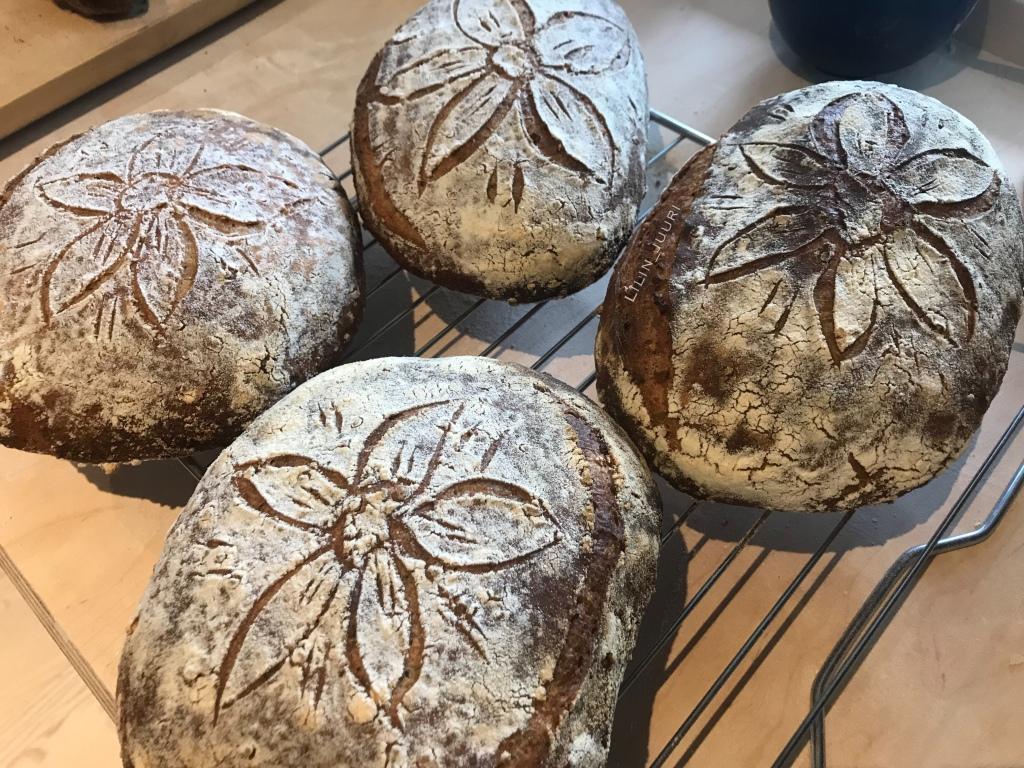 Yksi leipä satsi jäähtymässä.